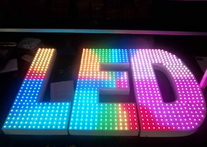 outdoor led channel letter advertising led signs for company 1 meter high