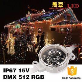China SMD5050 IP67 Outdoor 0.9Watt DC15V Waterproof DMX 40mm Poi LED distributor